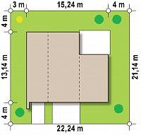 Минимальные размеры участка для проекта Zx46