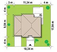 Минимальные размеры участка для проекта Zx47