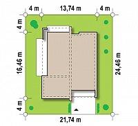 Минимальные размеры участка для проекта Zx49