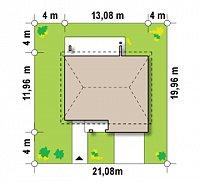 Минимальные размеры участка для проекта Zx4