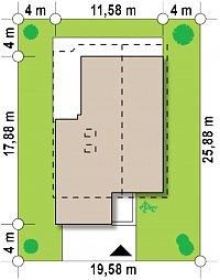 Минимальные размеры участка для проекта Zx50