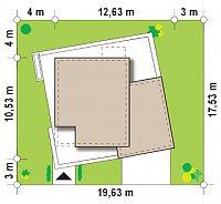 Минимальные размеры участка для проекта Zx51 GP