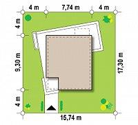 Минимальные размеры участка для проекта Zx51