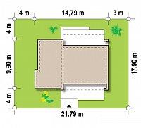 Минимальные размеры участка для проекта Zx53