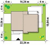 Минимальные размеры участка для проекта Zx54