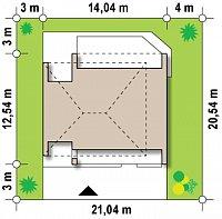 Минимальные размеры участка для проекта Zx55