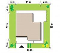 Минимальные размеры участка для проекта Zx57