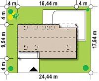 Минимальные размеры участка для проекта Zx58