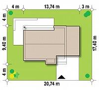 Минимальные размеры участка для проекта Zx59