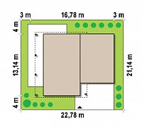 Минимальные размеры участка для проекта Zx5
