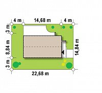 Минимальные размеры участка для проекта Zx60 BG