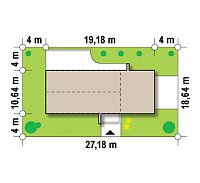 Минимальные размеры участка для проекта Zx60