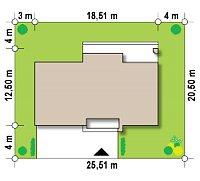 Минимальные размеры участка для проекта Zx61