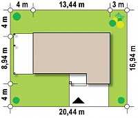 Минимальные размеры участка для проекта Zx63 A