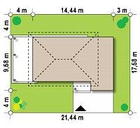 Минимальные размеры участка для проекта Zx63 B +