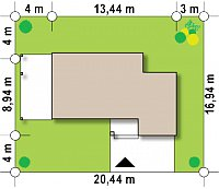 Минимальные размеры участка для проекта Zx63 B