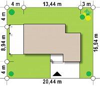 Минимальные размеры участка для проекта Zx63