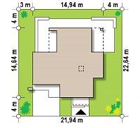 Минимальные размеры участка для проекта Zx64
