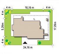 Минимальные размеры участка для проекта Zx65