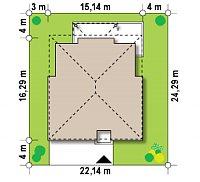 Минимальные размеры участка для проекта Zx66