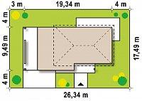 Минимальные размеры участка для проекта Zx6
