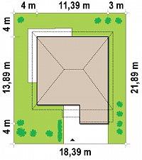 Минимальные размеры участка для проекта Zx7