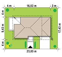 Минимальные размеры участка для проекта Zx8