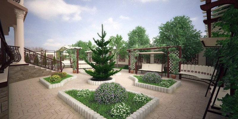 Благоустройство территории загородного дома | ИнноваСтрой