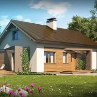 Компактные дома проекты Z255-a