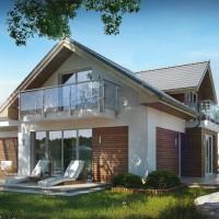 Проекты домов с гаражом Z275