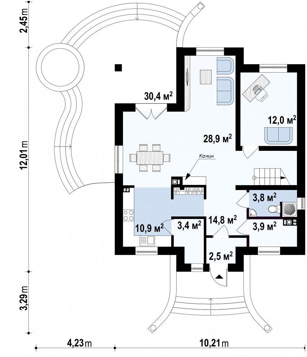 Первый этаж дома Z27