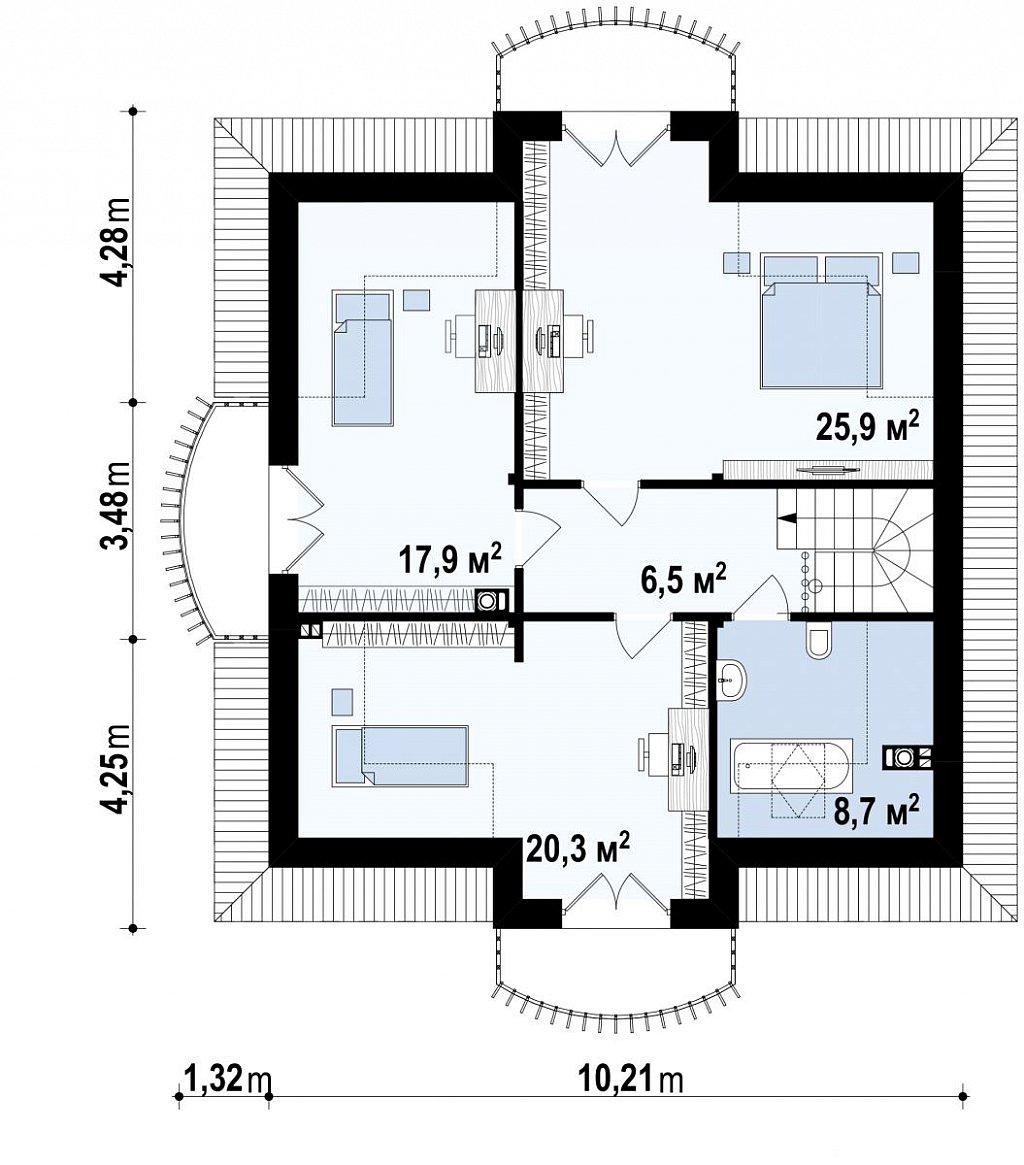 Второй этаж дома Z27