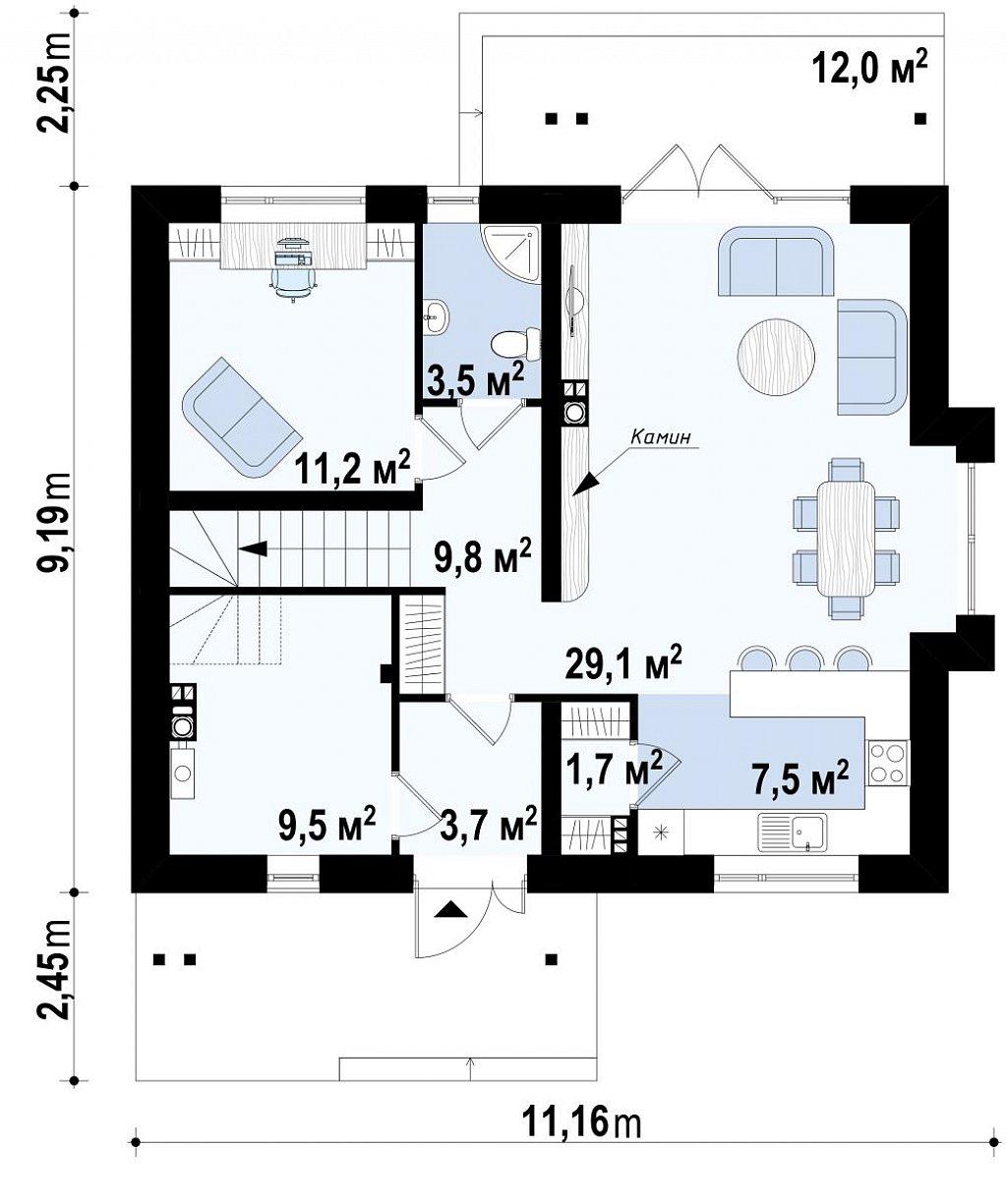 Первый этаж дома Z92