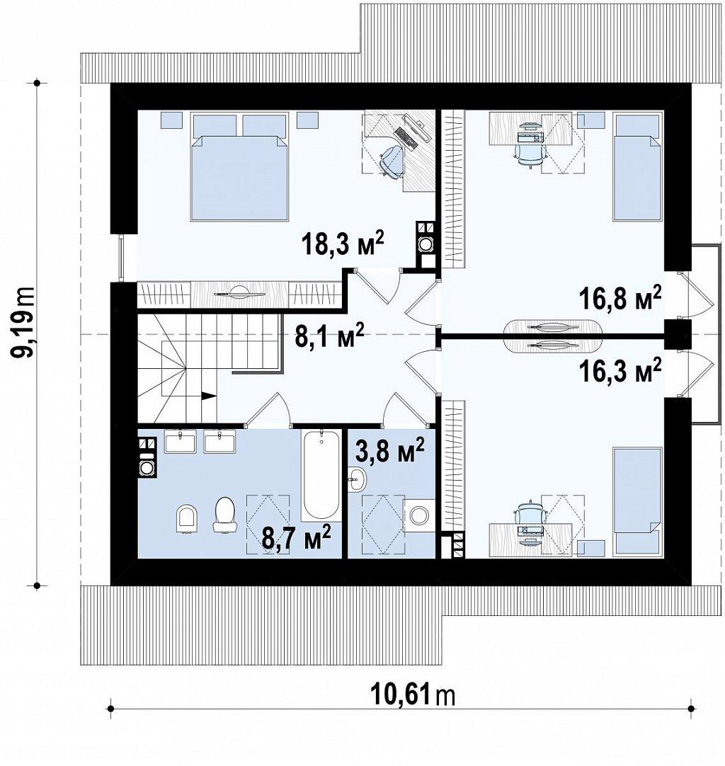 Второй этаж  дома Z92
