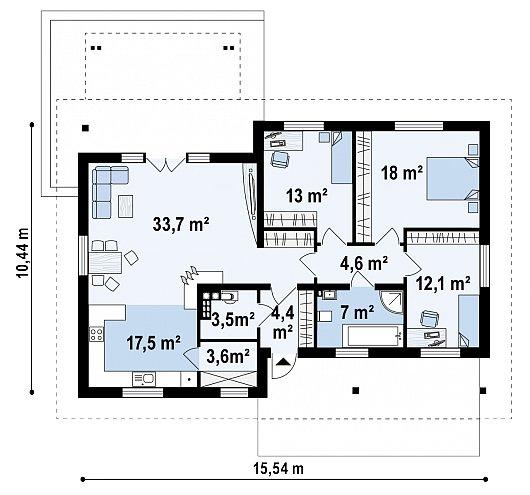 Первый этаж дома Z176