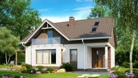 Вариант исполнения проекта дома Z128 dk