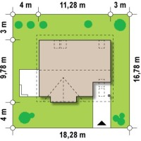 Минимальные размеры участка для проекта Z128 dk