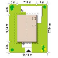 Минимальные размеры участка для проекта Z177 dk