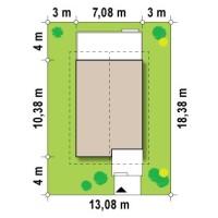 Минимальные размеры участка для проекта Z38 dk