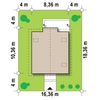 Минимальные размеры участка для проекта Z99 dk