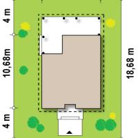 Минимальные размеры участка для проекта Z16 dk
