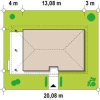Минимальные размеры участка для проекта Z55 dk