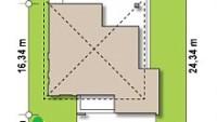Минимальные размеры участка для проекта Z156 A