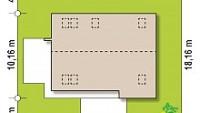 Минимальные размеры участка для проекта Z322