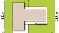 Минимальные размеры участка для проекта Zx70