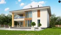 Дуплекс проект дома на две семьи Z156 A
