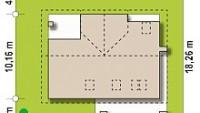 Минимальные размеры участка для проекта Z160A