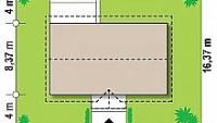 Минимальные размеры участка для проекта Z241 S