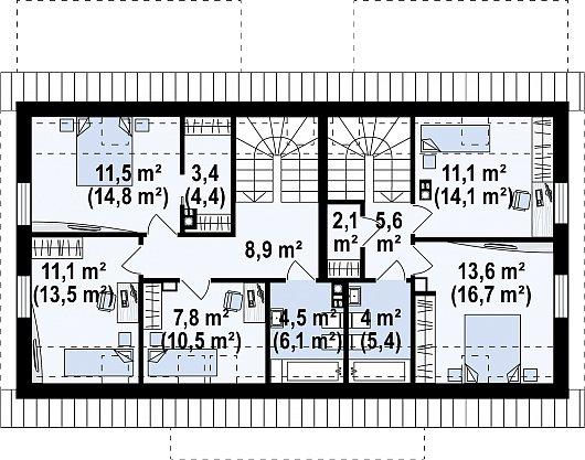 Первый этаж 100,9 м² дома Z351