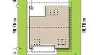 Минимальные размеры участка для проекта Z62 A minus